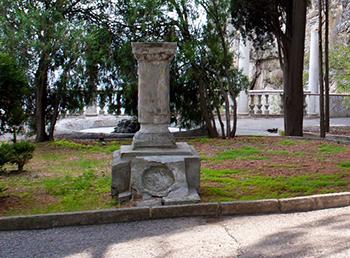 Кипарисный, постамент памятника