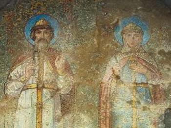Артек, фреска в Березинском склепе