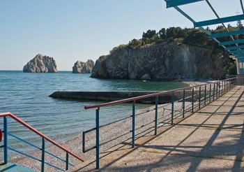 Артек, Пляж Лазурного лагеря