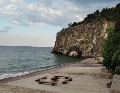 Артековский пляж, Лазурный
