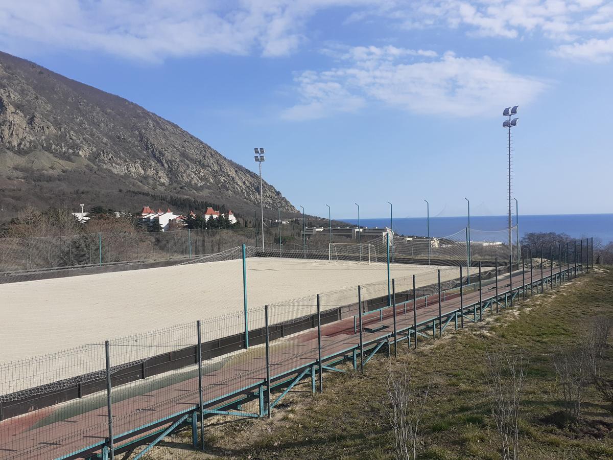 Артек, Спортплощадка для пляжного футбола